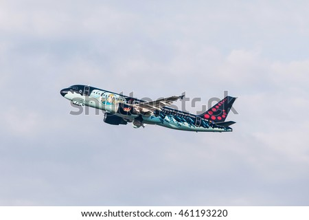 PRAGUE CZE MAY 12 Brussels Airlines Stock Photo (Edit Now