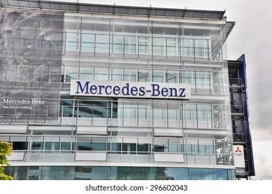 PRAGUE, THE CZECH REP., NOVEMBER 14, 2015: Luxury car Mercedes-Benz