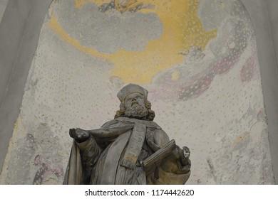 Prague / Czech Republic - 09.08.2018: Statue from Prague