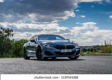 PRAGUE, THE CZECH REPUBLIC, 12. 8. 2019: The New BMW M850i, model year 2019 in Czech