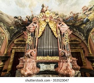 PRAGUE, CZECH REPUBLIC - 12th December 2015: Clementinum, Mirror Chapel. Prague.