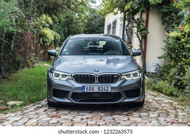 PRAGUE, THE CZECH REPUBLIC, 13. 10. 2018: BMW M5, model year 2018 in Czech