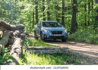PRAGUE, THE CZECH REPUBLIC, 16. 5. 2018: Subaru XV 1.6i-S, model year 2018 in Czech on offroad