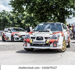 Prague, Czech republic - 16/5/2019 Subaru Impreza Rallye special