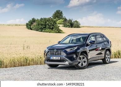 PRAGUE, THE CZECH REPUBLIC, 17. 8. 2019: The New Toyota RAV4, model year 2019 in Czech