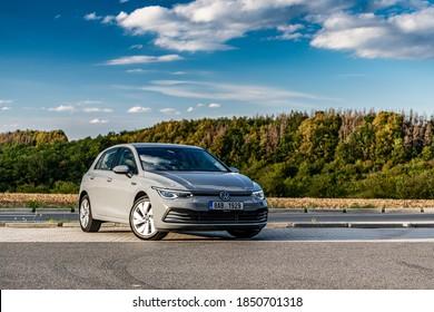 PRAGUE, THE CZECH REPUBLIC, 18. 10. 2020: The New Volkswagen Golf, model year 2020 in Czech