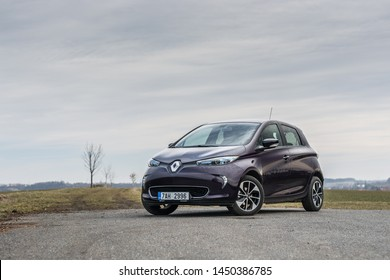PRAGUE, THE CZECH REPUBLIC, 18. 3. 2019: Renault Zoe, model year 2019 in Czech