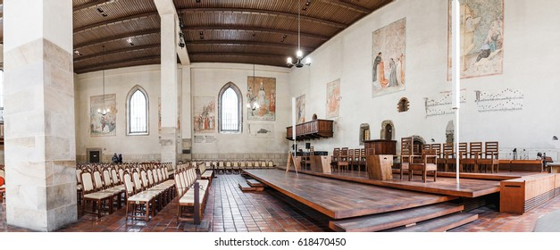 PRAGUE, CZECH REPUBLIC - 18 MARCH, 2017: The Bethlehem Chapel occupies a special place in the historical heritage of Prague and is associated with the reformist activities of Jan Hus