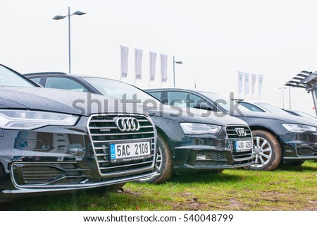 Prague Czech Republic 18122016 Audi Cars Stock Photo Edit Now