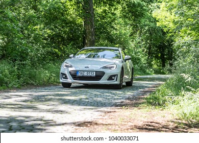 PRAGUE, THE CZECH REPUBLIC, 20. 6. 2017: New Subaru BRZ, model year 2017 in Czech