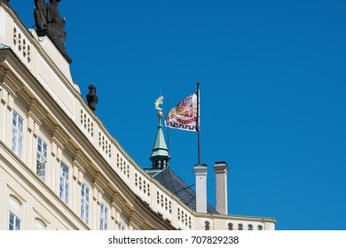 Prague / Czech Republic - 2017: Prague Castle - Standard. It is the official residence of the President of the Czech Republic.