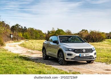 PRAGUE, THE CZECH REPUBLIC, 21. 9. 2020: The New Volkswagen T-Roc Cabriolet , model year 2020 in Czech