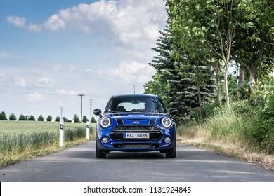 PRAGUE, THE CZECH REPUBLIC, 22. 6. 2018: New Mini Cooper S, model year 2019 in Czech