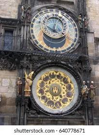 Prague, Czech Republic, 3 June, 2010. Old Town Clock Tower Astronomical Clock and Calendar in Prague, Czech Republic on 3 June, 2010.