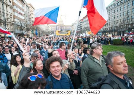 prague czech republic 942018 people want の写真素材 今すぐ編集