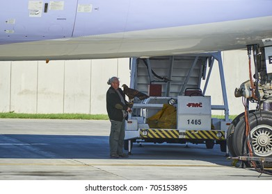 PRAGUE, CZECH REPUBLIC - April 01, 2012:  Bird and wildlife control unit at Vaclav Havel Airport Prague