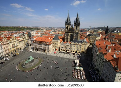PRAGUE, CZECH REPUBLIC - APRIL 24, 2013: Church of Our Lady before Tyn on Old Town Square