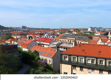 Prague, the Czech republic – Aprile 26, 2018: View of the Prague city from Vysehrad