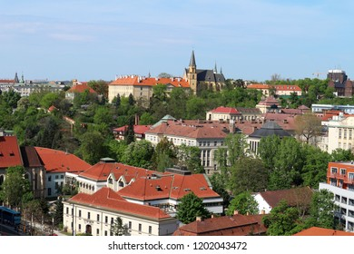 Prague, the Czech republic – Aprile 26, 2018: Beautiful view of the Prague city from Vysehrad