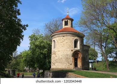Prague, Czech republic – Aprile 28, 2018: St. Martin Rotunda, Rotunda of St. Martin in Vysehrad in Prague, Czech republic