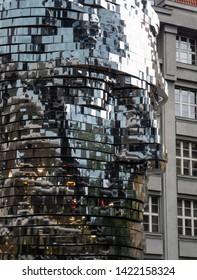 Prague, Czech Republic August 20 2018 Kafka monument