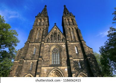 Prague, Czech Republic. The Basilica of St. Peter and Pavel in Visehrad