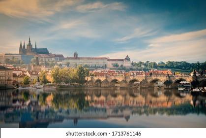 Prague, Czech Republic. Charles Bridge old town ,Cityscape of Prague     - Shutterstock ID 1713761146
