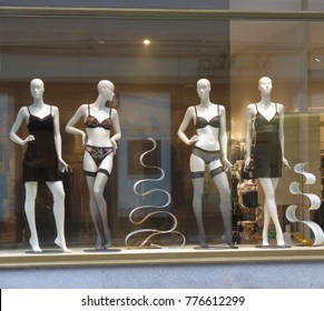 PRAGUE, CZECH REPUBLIC - CIRCA DECEMBER 2017: Palmers underwear brand store with mannequins