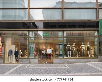 PRAGUE, CZECH REPUBLIC - CIRCA DECEMBER 2017: Palmers underwear brand store with mannequins