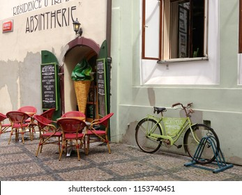 Prague, Czech Republic / Circa May, 2013: An absinthe cafe