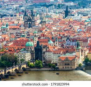 PRAGUE, CZECH REPUBLIC - CIRCA MAY 2017: View of the city of Prague, the capital of the Czech Republic circa May 2017 in Prague.