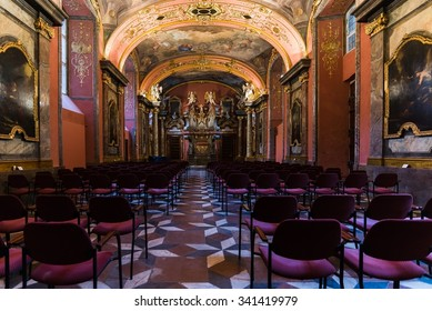 Prague, Czech Republic - Circa November 2015 - Inside the Klementinum in Prague