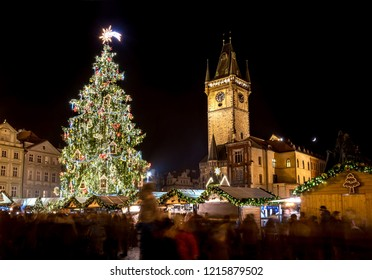 PRAGUE, CZECH REPUBLIC, DECEMBER 3, 2016: Prague Christmas market