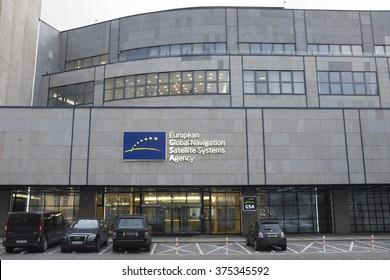 PRAGUE, CZECH REPUBLIC - FEBRUARY 11, 2016: The European Global Navigation Satellite Systems Agency (European GNSS Agency; GSA) headquarters on February 11, 2016 in Prague, Czech Republic.