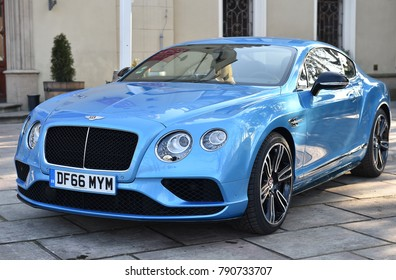 PRAGUE, CZECH REPUBLIC - FEBRUARY 15, 2017: Bentley Continental GT in Prague, Czech republic, February 15, 2017.