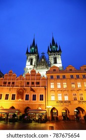Prague, Czech Republic - January 11 2014: Christmas streets and sights of the old city
