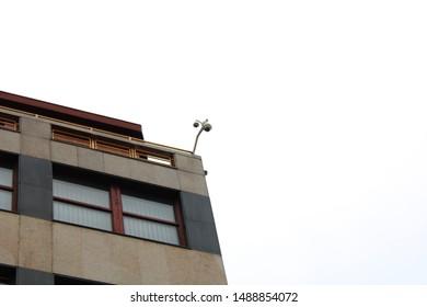 Prague / Czech Republic - July 13, 2019: Roof of building Palace Fenix on Wenceslas Square