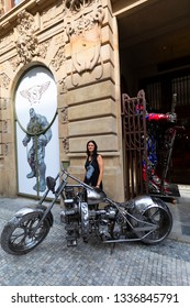 Prague, Czech Republic Jun 08 2018.: The Gallery of Steel Figures in Pruszków can undoubtedly be described as a unique contemporary art gallery.