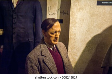 PRAGUE, CZECH REPUBLIC - JUNE 29, 2015: Historic section in the Madame Tussaud museum in Prague. Madame Tussaud museum is the museum of the wax figures