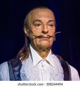 PRAGUE, CZECH REPUBLIC - JUNE 29, 2015: Salvador Dali in the Madame Tussaud museum in Prague. Madame Tussaud museum is the museum of the wax figures
