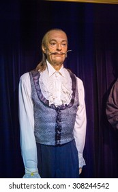 PRAGUE, CZECH REPUBLIC - JUNE 29, 2015: Salvador Dali in the Madame Tussaud museum in Prague. Madame Tussaud museum is the museum of the wax figures