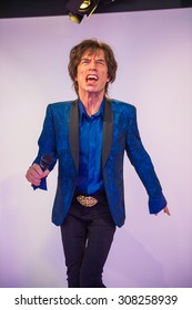 PRAGUE, CZECH REPUBLIC - JUNE 29, 2015: Mick Jagger, Grevin museum. Grevin is the museum of the wax figures in Prague
