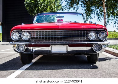 Prague, Czech Republic - June 30th 2018: Red Cadillac Eldorado (1960s) at Golden Cars meets up with Classic Drive.