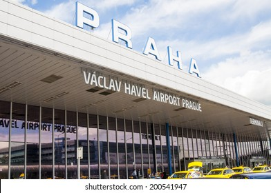 PRAGUE, CZECH REPUBLIC - JUNE 5, 2014: Vaclav Havel Airport in Prague on June 5, 2014, Czech Republic