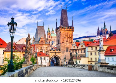 Prague, Czech Republic. Mala Strana medieval downtown of Praha, Bohemia medieval kingdom and imperial city.