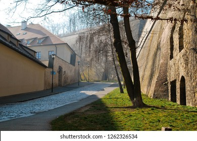 PRAGUE, CZECH REPUBLIC - March 09th, 2014: Old streets of Prague, Vysehrad