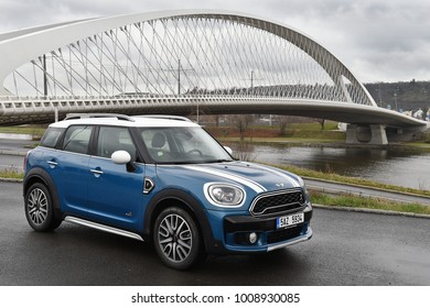 PRAGUE, CZECH REPUBLIC - MARCH 22, 2017: Minicooper Countryman in Prague, Czech republic, March 22, 2017.