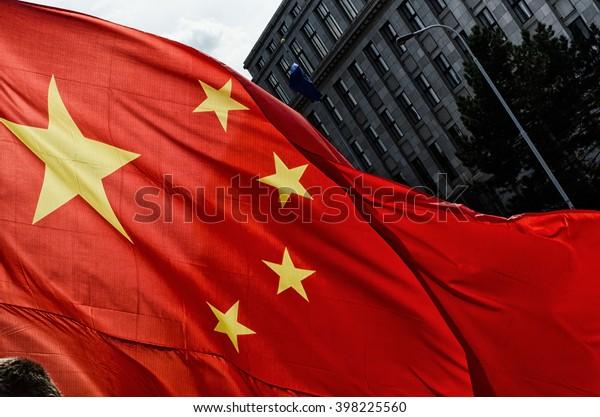 Prague, Czech republic - March, 28th 2016: Chinese President Xi Jinping arrives in Prague