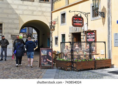 PRAGUE, CZECH REPUBLIC – May 1, 2017: Restaurant in the old part of the city.