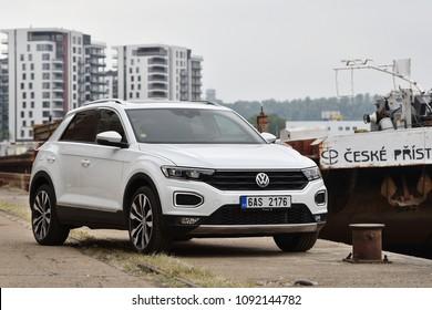 PRAGUE, CZECH REPUBLIC - MAY 11, 2018: Volkswagen T-Roc in Prague, Czech republic, May 11, 2018.